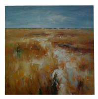 Obraz - olej na plátně - obilné pole - 80x80 cm - zvětšit obrázek