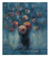 Obraz - olej na plátně - květinový závoj - 70x80 cm - zvětšit obrázek