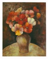 Obraz - olej na plátně - kytice vlčích máků - 50x60 cm - zvětšit obrázek