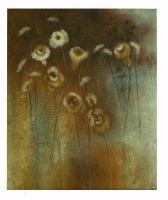 Obraz - olej na plátně - podzim na louce - 50x60 cm - zvětšit obrázek