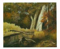 obraz - olej na plátně - podzim v lese - 60x50 cm - zvětšit obrázek