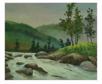 Obraz - olej na plátně - jarní tání - 60x50 cm - zvětšit obrázek