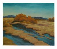 Obraz - olej na plátně - fjordy - 60x50 cm - zvětšit obrázek
