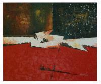 Obraz - olej na plátně - zlatá bouře - 60x50 cm - zvětšit obrázek