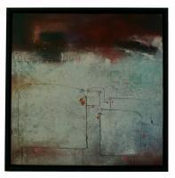 Obraz - olej na plátně - pasoucí se kravičky - 60x60 cm - zvětšit obrázek