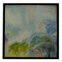 Obrazy - olej na plátně - krokusy v mechu - 60x60 cm - zvětšit obrázek