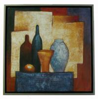 Obraz - olej na plátně - zátiší s lahvemi - 60x60 cm - zvětšit obrázek
