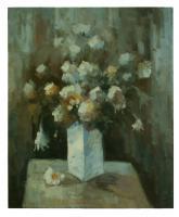 Obraz - olej na plátně - podzimní kytice - 50x60 cm - zvětšit obrázek