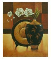 Obraz - olej na plátně - orchidej ve váze - 50x60 cm - zvětšit obrázek