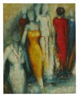 Obraz - olej na plátně - módní přehlídka - 40x50 cm - zvětšit obrázek