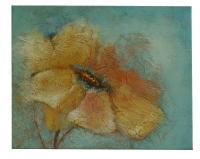 Obraz - olej na plátně - zimní květina - 50x40 cm - zvětšit obrázek
