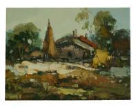 obraz - olej na plátně - babiččina chaloupka - 40x30 cm - zvětšit obrázek