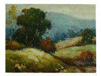Obraz - olej na plátně - břízy na stráni - 40x30 cm - zvětšit obrázek