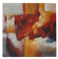 Obraz - olej na plátně - rudé piano - 89x89 cm - zvětšit obrázek