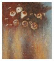 Obraz - olej na plátně - podzimní květiny - 70x80 cm - zvětšit obrázek