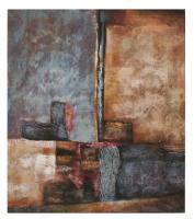 Obraz - olej na plátně - dům v plamenech - 70x80 cm - zvětšit obrázek