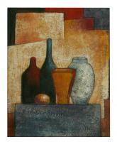 Obraz - olej na plátně - zátiší s nádobami - 40x50 cm - zvětšit obrázek