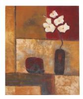 Obraz - olej na plátně - zátiší s květinami - 50x60 cm - zvětšit obrázek