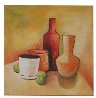 Obraz - olej na plátně - snídaně - 45x45 cm - zvětšit obrázek